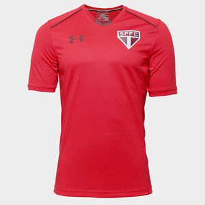 Sao Paulo Training Red Soccer Football Jersey Shirt - 2017 Under Armour Brazil