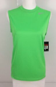 Nike Boys Large Shirt Tank Sleeveless Green Dri Fit New With Tags