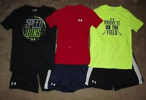 Boys Under Armour Outfits Lot of 3 Size YM Youth Medium Great Used Condition