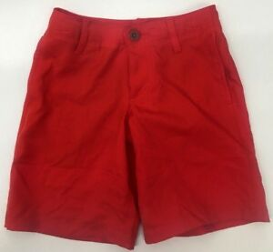 NEW!! Under Armour Boy's Match Play Golf Red Shorts Sz XS