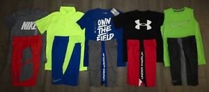 Lot 10 Boy's UNDER ARMOUR NIKE Dri-Fit Loose Shirts Athletic Shorts Medium YMD