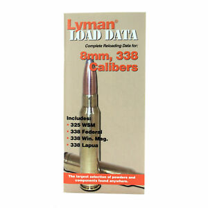 Lyman Books 9780018 Load Data Book - Reloading Manual - 8mm 338