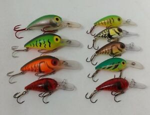 (9) Storm Wiggle Wart crankbait fishing lures Lot of 9 great Colors