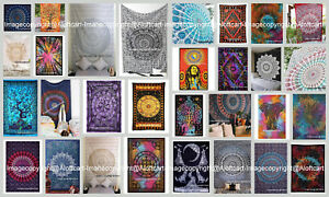 Indian Mandala Cotton Wall Hanging Hippie Beach Throw Bohemian Blanket Tapestry
