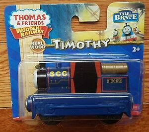 TIMOTHY Thomas & friends train Tank Wooden Railway NEW IN BOX Tale of the Brave