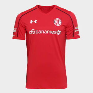 Toluca Home Soccer Football Jersey Shirt - 2017  2018 Under Armour Mexico