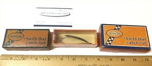 3 Vintage Shakespeare Company Fishing Lures in the box.  Spoon Creek Chub Mouse
