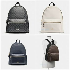 New Coach Womens F29004 F58314 Charlie Backpack Leather