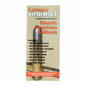 Lyman Books 9780020 Load Data Book - Reloading Manual - Classic Rifle Calibers
