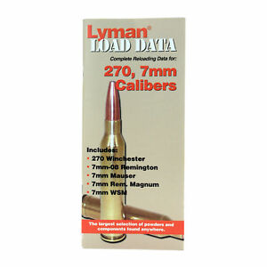 Lyman Books 9780012 Load Data Book - Reloading Manual - 270 7mm