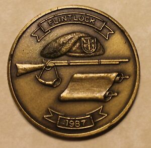 11th Special Forces Group Airborne Flintlock 1987 Army Challenge Coin