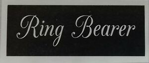 Ring Bearer word stencils for etching glass  wedding favor gift craft hobby
