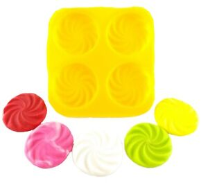Swirl Cream Cheese Mint Candy Fondant Chocolate Soap Mold All Occasions