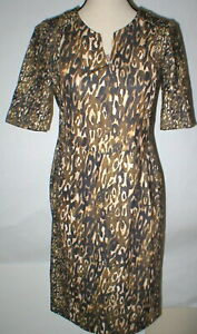 New Womens 2 NWT Designer Escada Sport Leopard Print Dress 38 Ejunka Knee Length