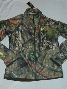 $ 180 NEW Mens LARGE Under Armour Infrared Coldgear Mossy Oak Camo Hunt Jacket