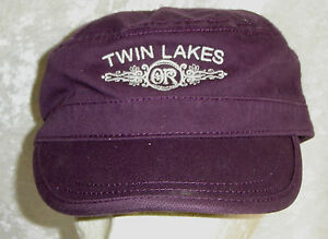 Twin Lakes Hat Cap OR Oregon USA Embroidery Military Style Flat Top Unisex New