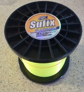 SUFIX SUPERIOR 20LB HI-VIS YELLOW 11745  MONOFILAMENT FISHING LINE - 4.4LB SPOOL