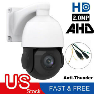 4.5'' 30X ZOOM 4in1 AHDTVICVICVBS 1080P 2.0MP PTZ Speed Dome IR Camera Night