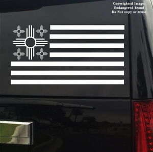 Simple ZIA USA Flag New Mexico NM state flag emblem sign sticker decal