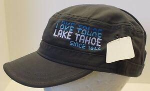 Lake Tahoe Hat Cap Cadet Military Style Flat Top USA Embroidery Unisex New