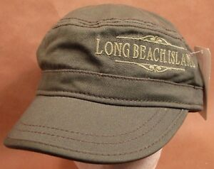 Long Beach Island Hat Cap Cadet Flat Top Style USA Embroidery Unisex New