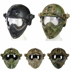 Military Tactical Protective Fast Helmet Airsoft Paintball Mask