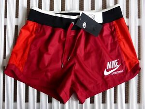 Small Womens NIKE SPORTSWEAR Shorts With ZIPPED POCKETS Gym Running Yoga New