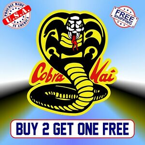 Cobra Kai Full Color bumper sticker vinyl decal Karate Kid Johnny Lawrence GoGo