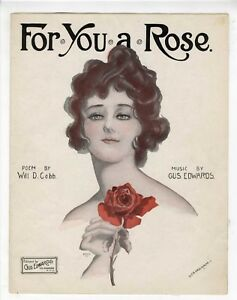 PRETTY WOMAN ALTERNATE COVER Sheet Music 1917 For You A Rose $8.00