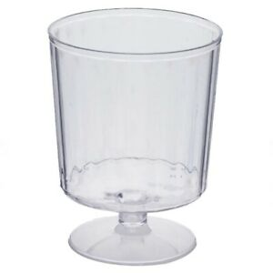 8 oz Disposable CLEAR PLASTIC Wine GLASS Party Dinner Wedding TABLEWARE SALE