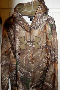 NEW MENS UNDER ARMOUR UA Loose Fit Hoodie sz 3XL Realtree Camo