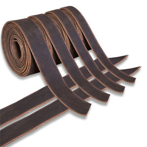 Genuine Cowhide Leather Belt Blanks Belt Strip Brown Oil Tanned 5 6 Oz Thick U