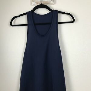 Brooks Mens Athletic Work Out Running Tank Top Size S Navy Blue Shirt L22