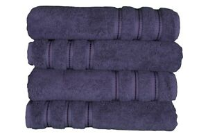 Puffy Cotton Premium 600 GSM 100% Turkish Cotton Bath Towels - Set of 4