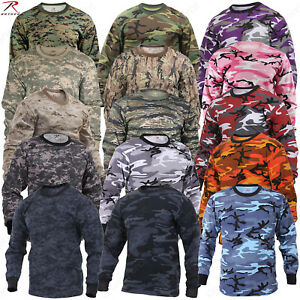 Rothco Long Sleeve Camo T Shirts Military Style Long Sleeve Camouflage Tees $13.99