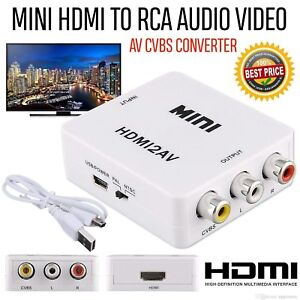 1080p HDMI to RCA Audio Video AV CVBS Adapter Cable Converter For HDTV TV DVD