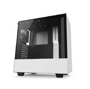 NZXT H500 No Power Supply ATX Mid Tower (Matte White)
