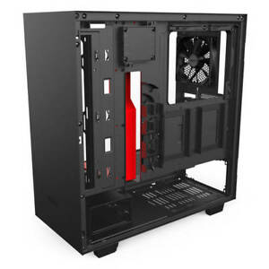 NZXT H500i No Power Supply ATX Mid Tower Matte Black/Red w/ Ligh