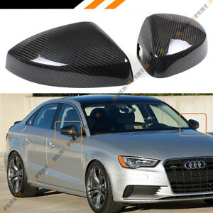 CARBON FIBER REPLACEMENT MIRROR COVERS FOR 14 18 AUDI A3 S3 RS3 WITH LANE ASSIST $125.99