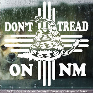 ZIA Don#x27;t Tread on NM snake state flag New Mexico sticker
