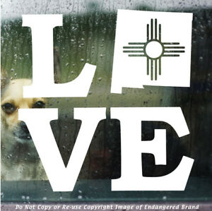 ZIA Love with Sate outline state flag New Mexico sticker