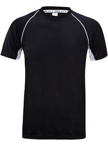 Dry Fit Athletic Tee Shirt  for BoysSport Shirt Running T Shirt Black MLabel L
