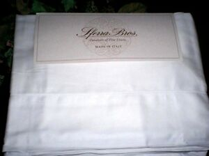 WHITE Sheet Set QUEEN,KING or CAL Sferra Italian Sateen LONG STAPLE Cotton 300TC