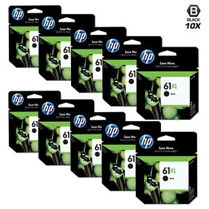 10pk GENUINE HP 61XL Black Ink OEM Cartridge CH563WN 61 Deskjet 3050 2050 1050