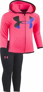 Under Armour Baby Girls' Big Logo Hoody Set