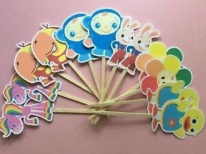 Baby First Tv Party Set Of 12 Cupcake Toppers