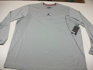 NIKE AIR JORDAN FLIGHT DRI-FIT TRAINING SHIRT GRAY FITTED (SIZE 4XL)