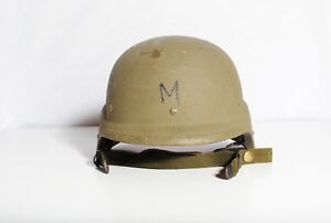 US Military Issue Made with Kevlar PASGT Helmet Sz MED Chips