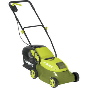 Lawn Mower Electric Push Rechargeable Bag Steel Blade Walk Behind Outdoor Cutter