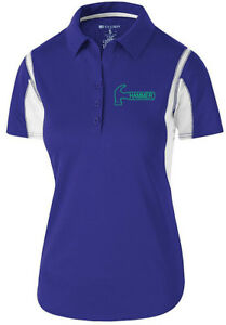 Hammer Women's Taboo Performance Polo Bowling Shirt Dri-Fit Purple Teal